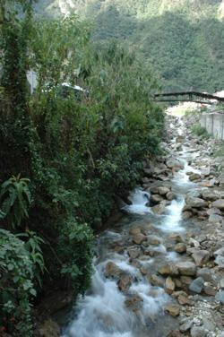 Below Machu Picchu
